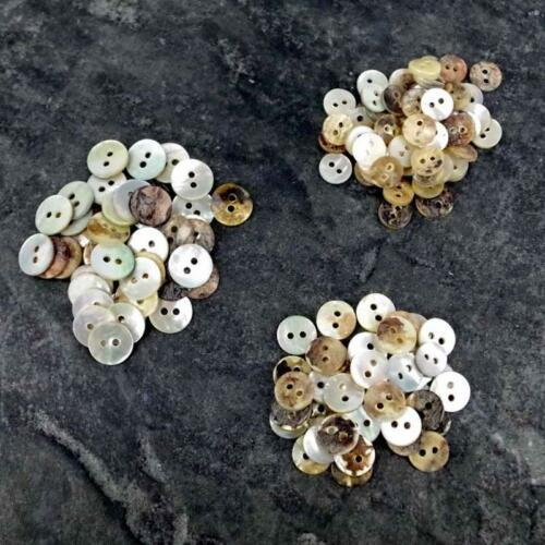 50 x NACRE boutons ivoire//neutre Mix 8//9//10//11mm Craft Scrapbook B57