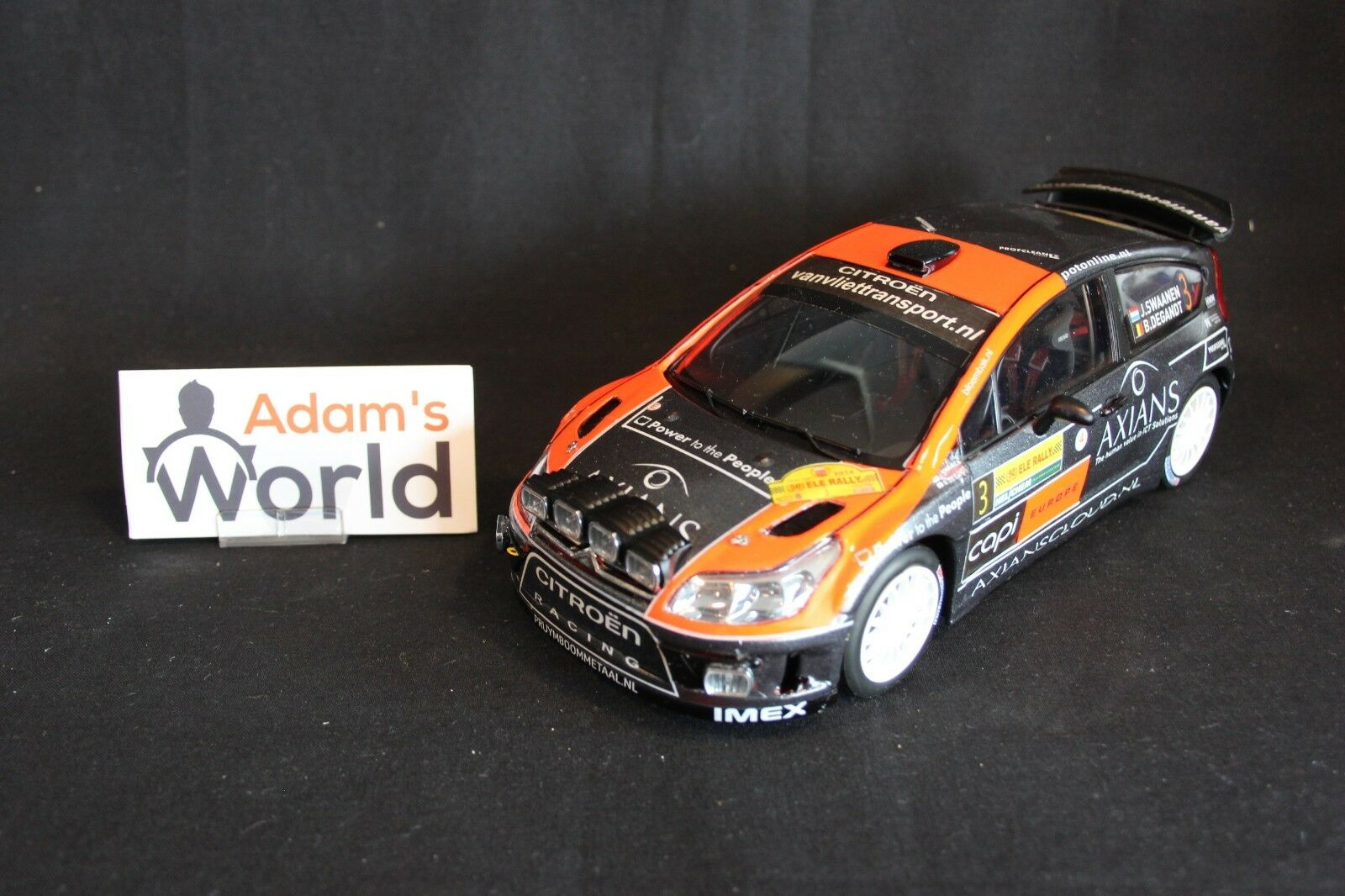 AutoArt Citroën C4 WRC 2014 1:18  3 Swaanen / Degandt ELE Rally  JvdM  NR