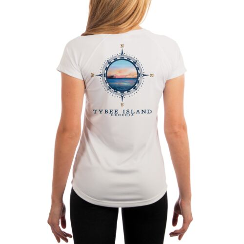 Compass Vintage Tybee Island Women/'s UPF 50 Short Sleeve T-shirt