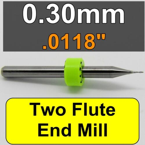 "0.30mm .0118/""  Carbide End Mill Two Flute .045 LOC /</< MADE IN USA />/> CNC M102"