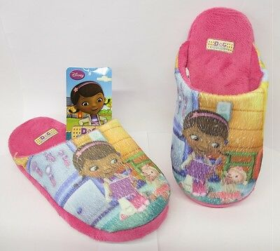 KIDS INDOORS SHOES GIRLS PINK DOC MCSTUFFIN ANIMATED UPPER SLIPPERS - D93641