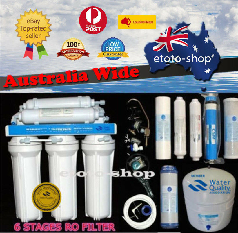 6-Stage Reverse Osmosis Water Filter + RO Membrane Purifier + Fittings + Filters