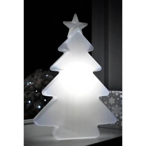 Pre-Lit 3D Molded Snowman Head Tree Santa Chimney Garden Christmas Decoration