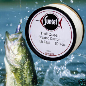 Troll-Queen-Braided-Dacron-Fish-Line-50-Yd-75-Test