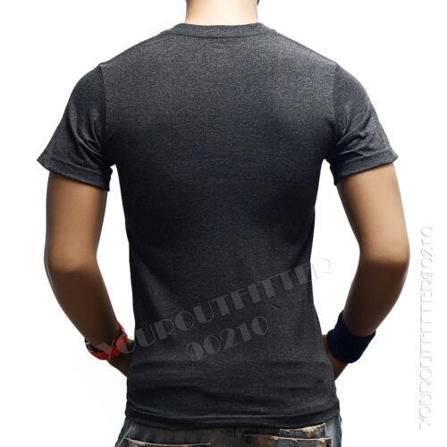 Men HEAVY WEIGHT V-NECK T-SHIRT  Big /& Tall Hipster Plain Camo Casual Gym  S-5X