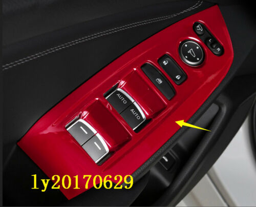 Details about  /2018-2019 For Honda Accord ABS Red Dashboard Decorative Panel Cover Trim 2pcs