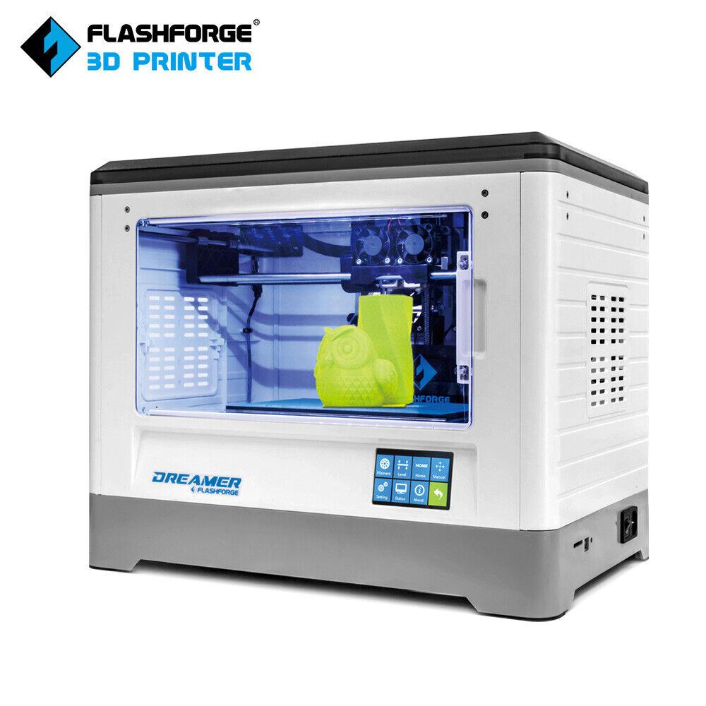Flashforge Dreamer 3D Printer Dual-extruder WIFI enclosed PLA/ABS 230*150*140mm