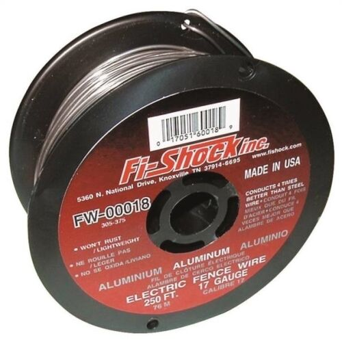 Fi-Shock FW-00018D Electric Fence Wire 250 Ft L 17 Ga Wire Aluminum