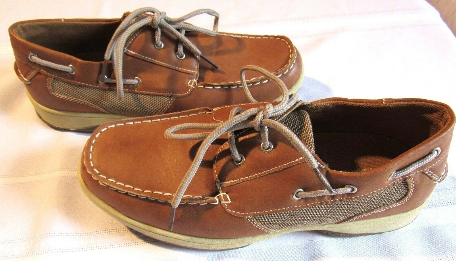 DEER STAGS MEN'S BROWN BOAT LOAFER COMFORT SHOES SIZE 6 1 2 M NEW WITHOUT TAGS