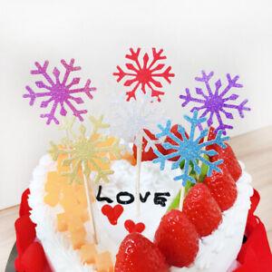 40-Pieces-Multicolore-Flocon-Gateau-Toppers-Anniversaire-Decor-Enfants-Fete-Noel