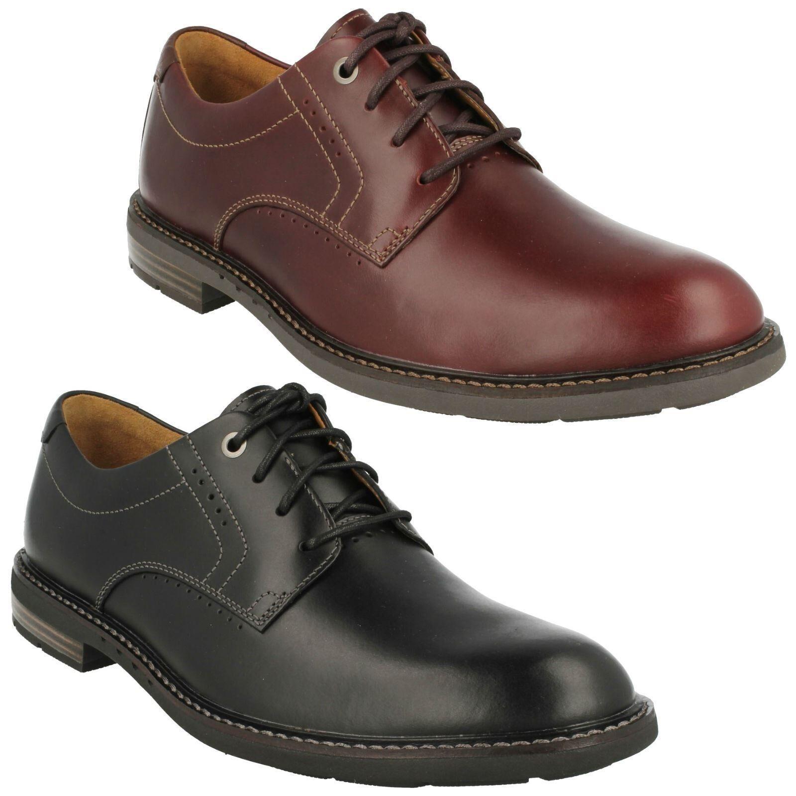 Unelott Tinta Pelle Unita Da Uomo Clarks Pelle Tinta Stringati lavoro formale partito scarpe non strutturati 079a56
