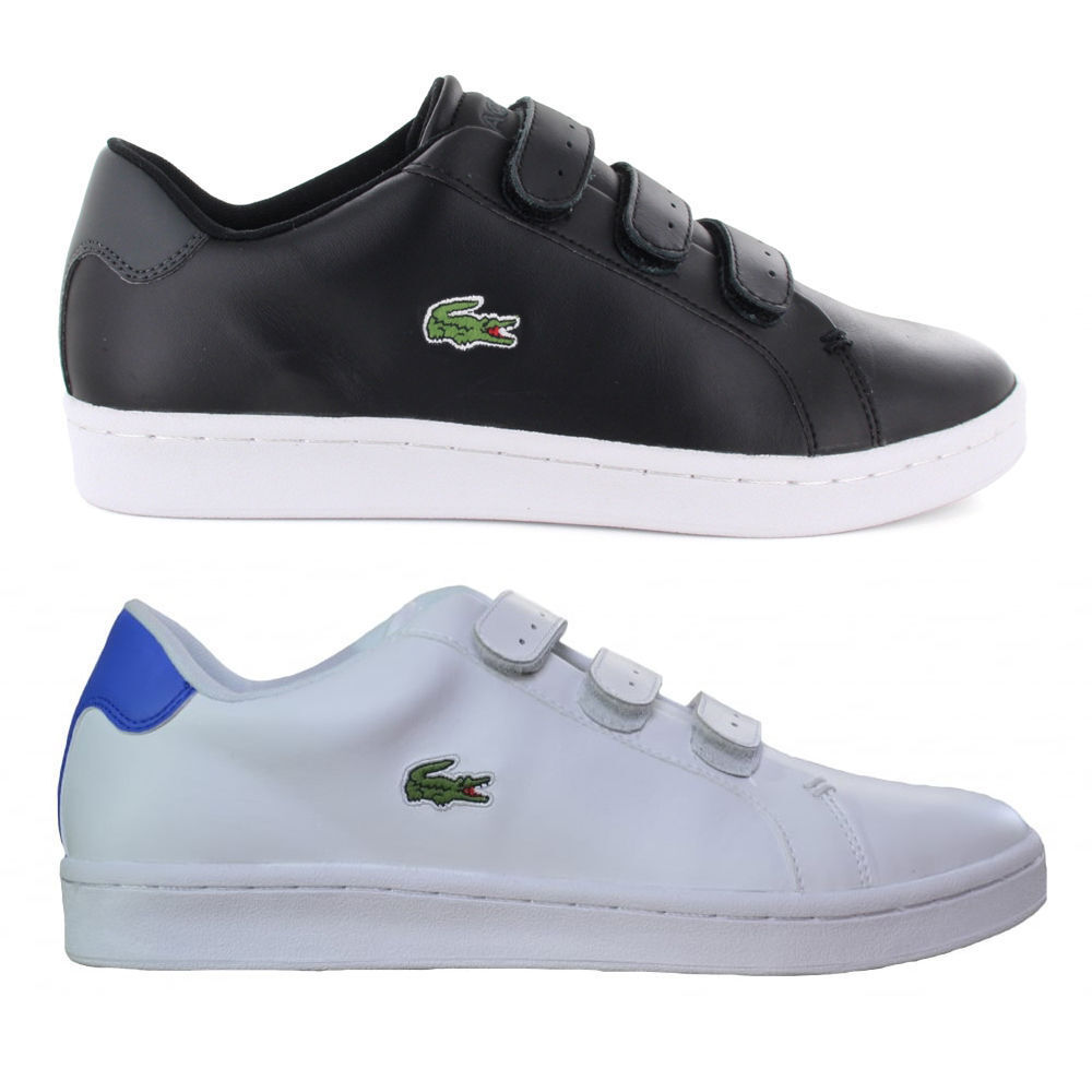 Lacoste Mens Camden New Cup Strap Sport Active Gym Black White Trainers