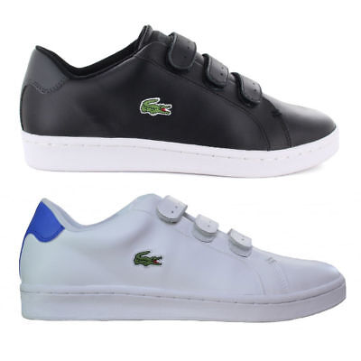 Lacoste Mens Camden New Cup Strap Sport Active Gym Black White Trainers 1853360b1d5