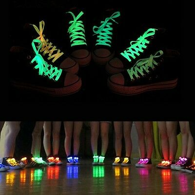 Flash Light Up Glow Shoelaces Shoe Laces For Party Skating HIP-HOP Dance