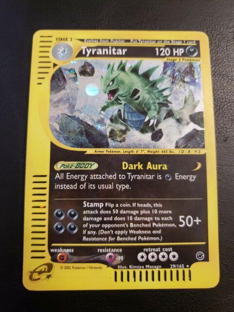 Tyranitar 29/165 Expedition Holo Rare LP/MP