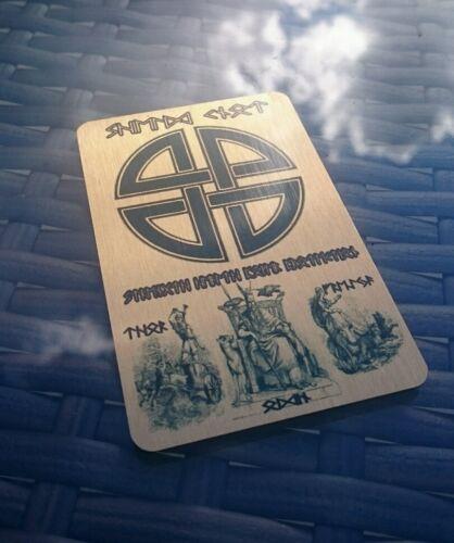 Viking Metal Wallet INSERTO-LUCKY SCUDO NODO SIMBOLO Freya Rune Thor Odin