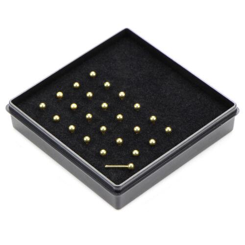 24Pcs//Set Nose Lip Bar Ring Bone Studs Surgical Steel Body Piercing Jewelry I2