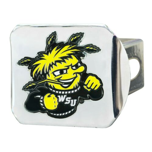 2-4 Days Fanmats Wichita State Shockers Color 3D Chrome Metal Hitch Cover Del