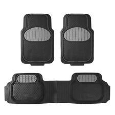 Universal Rubber Floor Mats Touchdown Football Design Gray For Car Suv Van Fits 2012 Toyota Corolla