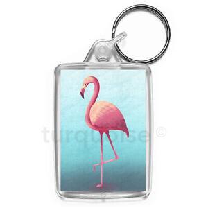 Flamingo-Art-Keyring-Gift-Key-Fob-Keychain-Medium-Size