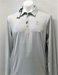 New-Mens-Adidas-Climacool-Large-long-sleeve-golf-polo-shirt-polyester-spandex