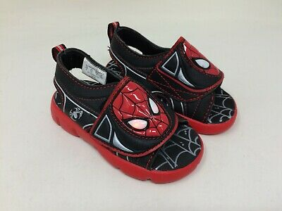Boy/'s Toddler Marvel 49154 Spidey Sandal New SIZE 7 Black//Red Q1