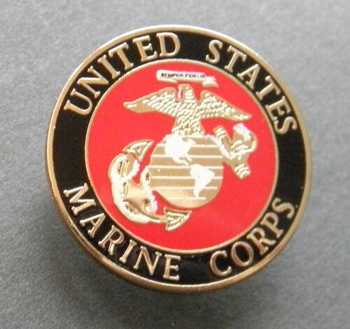 US MARINE CORPS REGULAR LAPEL PIN BADGE 1 INCH USMC MARINES
