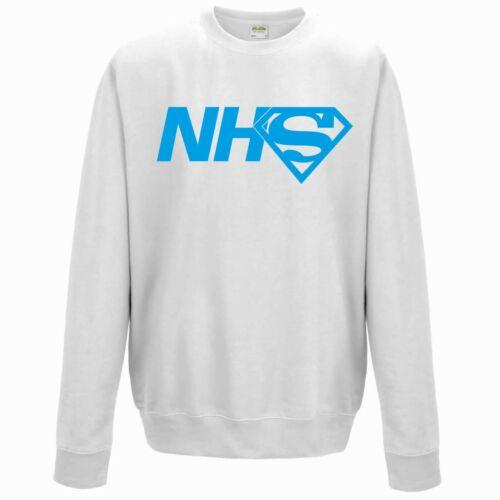 Super NHS Sweatshirt JH030 Jumper Doctors Nurses Frontline Staff Superman