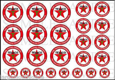 NEW PEEL & STICK 1/2 3/8 1/4 INCH TEXACO 25 DECAL SHEET TRUCK DIORAMA MODEL