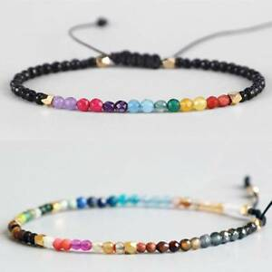 12-Constellation-Lucky-Stone-Simple-3mm-Beads-Adjustable-Beaded-Bracelets-Unisex