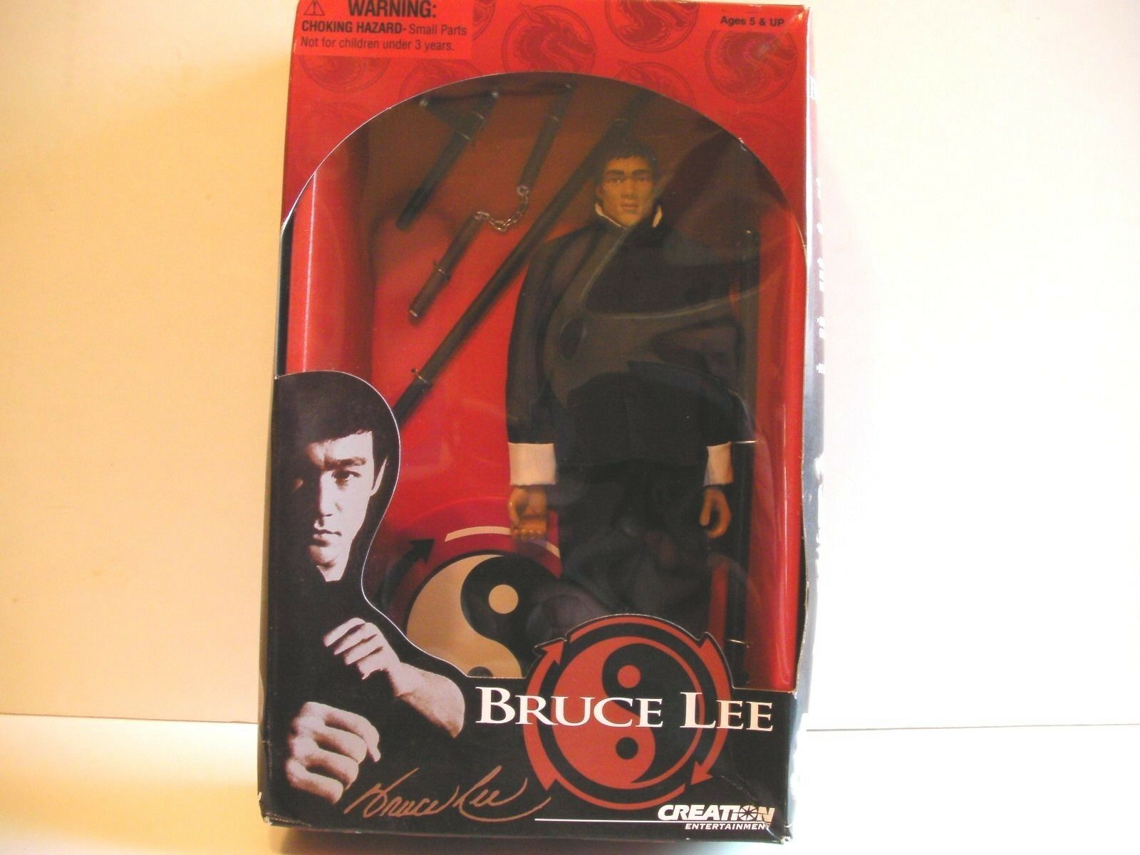 Bruce Lee 1999 Creation Entertainment 12  Figure NEW BLK GI  FREE SHIP/GIFT