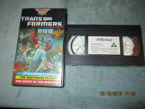 TRANSFORMERS-STARSCREAM-039-S-GHOST-NIGHTMARE-PLANET-VHS-PAL-UK-VIDEO-S