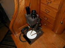 Vintage Swift Stereo Microscope Model M 20 Lighted 15x 10 Mm Nice Condition