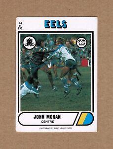 1976-SCANLENS-NRL-RUGBY-LEAGUE-TRADING-CARD-65-JOHN-MORAN-PARRAMATTA-EELS