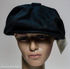 Newsboy Cap 1920 s-1930 s Era Black Wool Brimmed Costume Hat Lg Or ... 00e51c7fe25