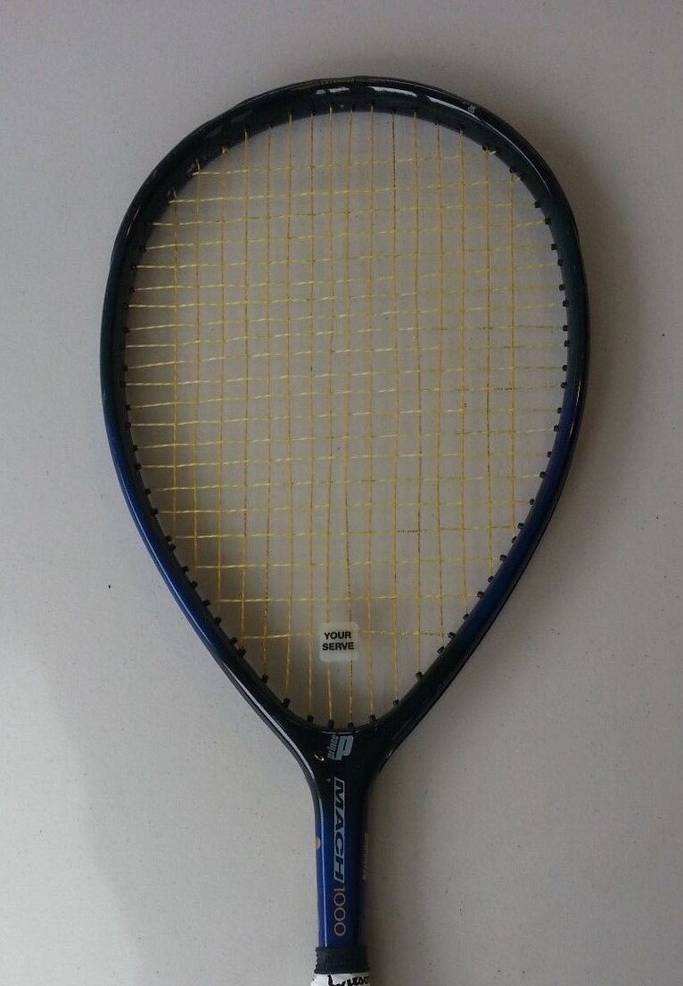 PRINCE Extender Mach 1000 longbody Raquette De Tennis Cordée 4-3 8 Minty Free Ship