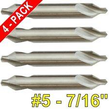 4 Pc 5 Center Drill Bit 60 Deg M2 Hss High Speed Steel Countersink 716