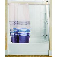 Expandable Shower Curtain Rail Up To 200cm Adjustable White Bath Telescopic Pole
