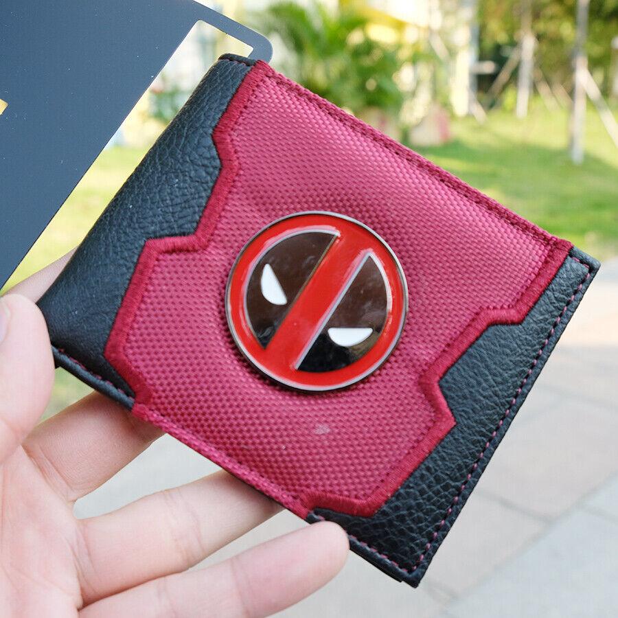Deadpool Wilson Metal Logo Coin Wallet Purse Holder Layers Bag 11cm