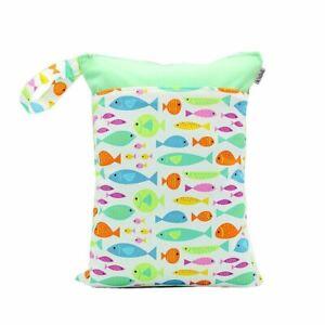 Waterproof-Double-Zip-Wet-Bag-Green-Fish-30x40cm