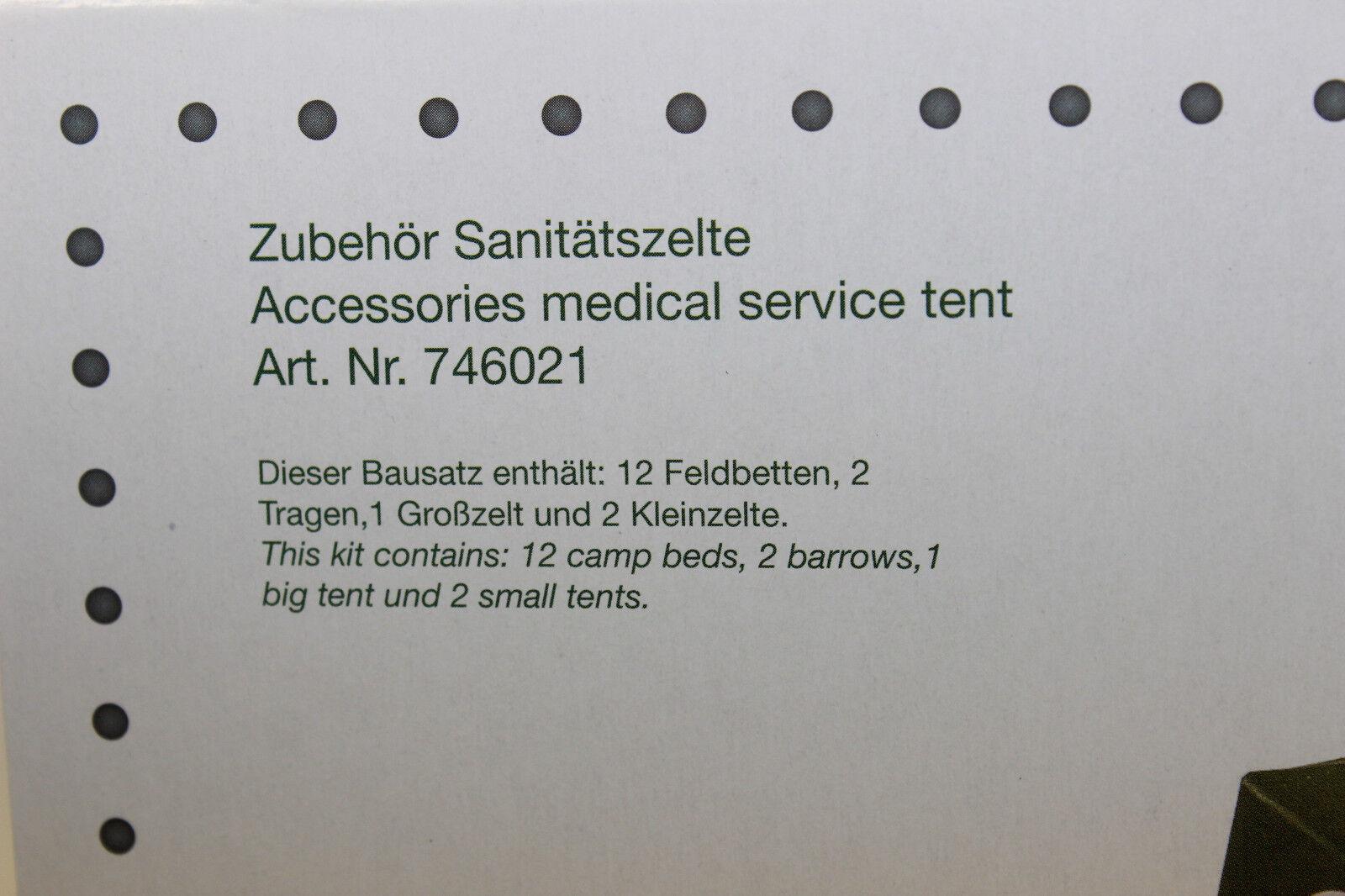 Herpa 746021 ACCESSORI NUOVO sanitätszelte 1:87 h0 NUOVO ACCESSORI IN SCATOLA ORIGINALE 0dd88b
