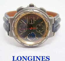 LONGINES CONQUEST TITANIUM Automatic Chronograph Moonphase Mens watch* SERVICED
