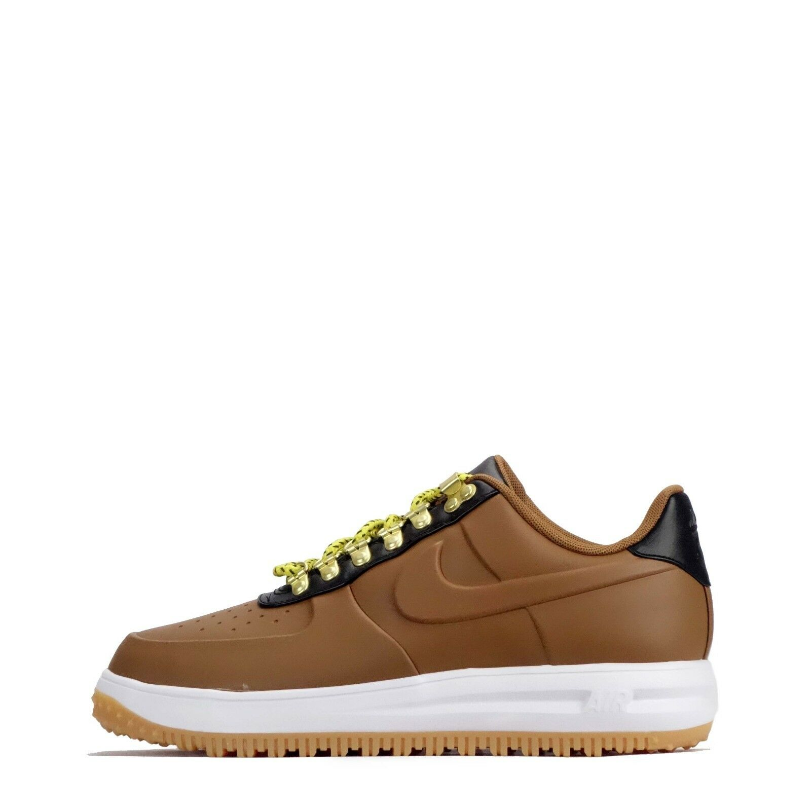 Nike Lunar Force 1 Duckboot Low Men's Leather Shoes in Ale Brown