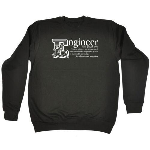 Engineer Noun Funny Joke Job Civil Boss Work SWEATSHIRT
