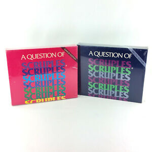 Lot-2-A-Question-of-Scruples-Board-Games-Second-2nd-Junior-Editions-Vintage-80s
