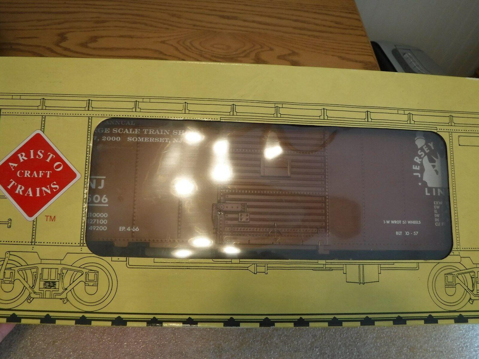 New Aristo-Craft ART-46093 New Jersey Steel Box Car #1 Gauge 1/29 Scale NIB