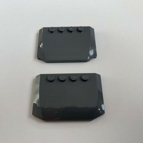 2 x Lego Motorhaube Wedge 4x6x2//3 neu-dunkelgrau Auto NEU 52031