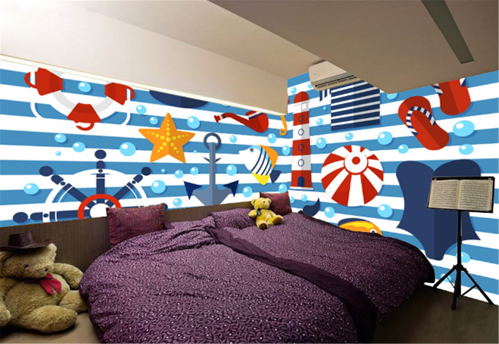 3D Sailing Sign 835 Wallpaper Mural Paper Wall Print Wallpaper Murals UK Kyra