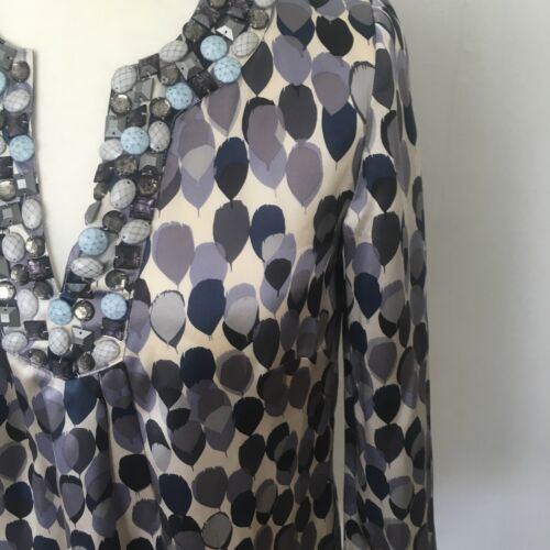 Blouse Size Limited Jewelled Ladies Top 6 Y6 Boden Silk Edition 100 zOSnFq