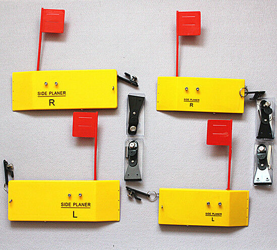 4x Planer Boards,Spring Flag System Clip,Medium & Large,L8 xW3 &L10 xW3.5